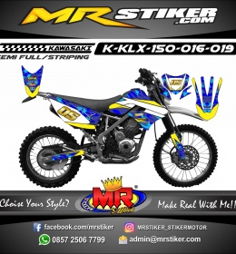 Stiker motor decal KLX 150 Blue Camo