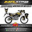 Stiker motor decal KLX 150 BF Gold elegan