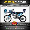 Stiker motor decal KLX GORDONS Blue Shark Carbon