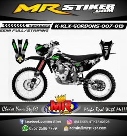 Stiker motor decal KLX GORDONS Braaap Spray Brush