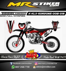 Stiker motor decal KLX GORDONS Red Carbon Race
