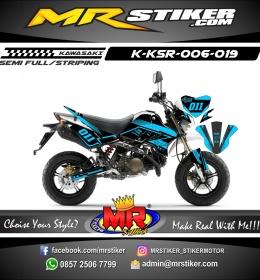 Stiker motor decal KSR Blue Elegan Simple