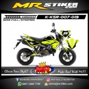 Stiker motor decal KSR Stabillo color
