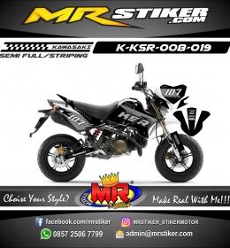 Stiker motor decal KSR silver race