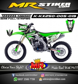Stiker motor decal KX 250 Green Adventure