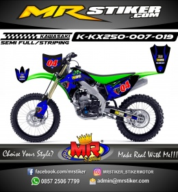 Stiker motor decal KX 250 Wolf Blue