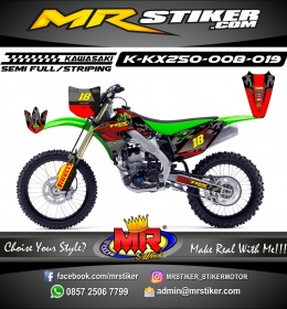 Stiker motor decal KX 250 Fox Crack Race