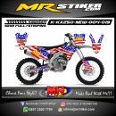 Stiker motor decal KX 250 New Amerika Flags
