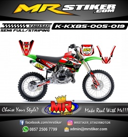 Stiker motor decal KX 85 Red Fox Race