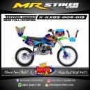 Stiker motor decal KX 85 Bluessom