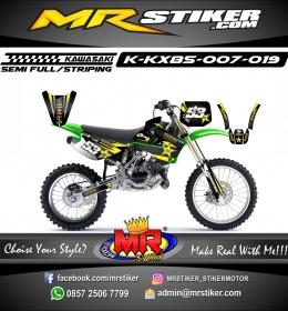 Stiker motor decal KX 85 Rockstars Carbon