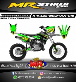 Stiker motor decal KX 85 New Green Splat Light