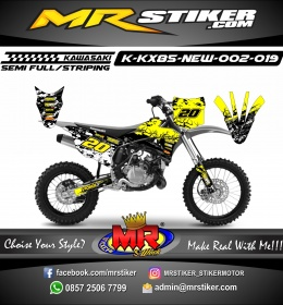 Stiker motor decal KX 85 New earth yellow
