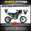 Stiker motor decal KX 85 New Monster Blue Gradation