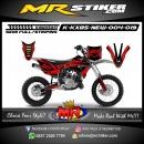 Stiker motor decal KX 85 New The Red Dark