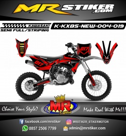 Stiker motor decal KX 85 New The Red Dark