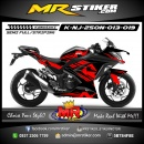 Stiker motor decal Ninja 250 New Red Grafis Path