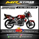 Stiker motor decal Ninja R New Lady Rose