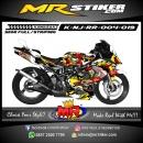 Stiker motor decal Ninja RR War