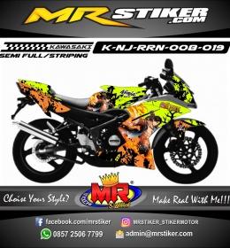 Stiker motor decal Ninja RR New Luffy ONEPIECE