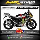 Stiker motor decal Ninja RR New Monster cannon Block