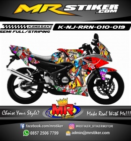 Stiker motor decal Ninja RR New Samurai Girl