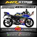 Stiker motor decal Ninja RR New Joker Suicide Squad