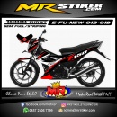 Stiker motor decal Satria F New Red Race Speed