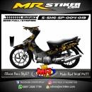 Stiker motor decal Shogun SP Gold Flower