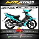 Stiker motor decal Smash Ice Blue Carbon Race