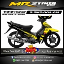 Stiker motor decal Smash Yellow strip Monster Energy