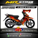 Stiker motor decal Smash New Flame Glory