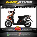 Stiker motor decal Spin Race Star Orange Gradation