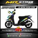Stiker motor decal Spin Blue Race Lemon Grafis color