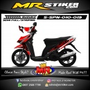 Stiker motor decal Spin Red Flower