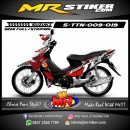 Stiker motor decal Titan Abstrack Grafis
