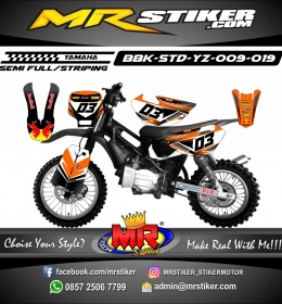 Stiker motor decal Bebek Standar YZ RedBull Team Orange Racing