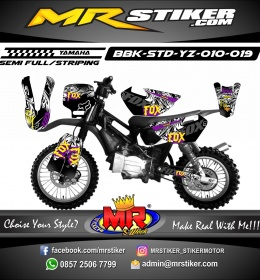 Stiker motor decal Bebek Standar YZ Dark Fox Team