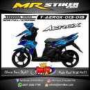 Stiker motor decal Aerox Blue Wolf Night