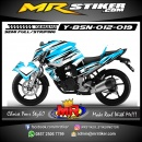Stiker motor decal Byson Blue Ice Striping