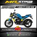 Stiker motor decal Byson FI Blue Camo