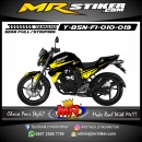 Stiker motor decal Byson FI Strip Yellow Rockstar