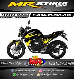Stiker motor decal Byson FI Strip Yellow Rockstar