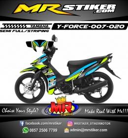 Stiker motor decal Force Blue Sky Green line