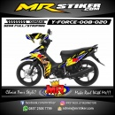 Stiker motor decal Force Crash Redbull