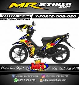 Stiker motor decal Force Crash Redbull