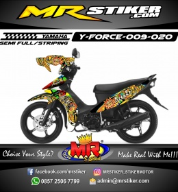 Stiker motor decal Force Full SunMoon
