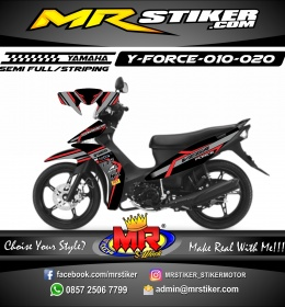 Stiker motor decal Force Red grafis Elegan