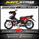 Stiker motor decal Jupiter MX Red Black Shark