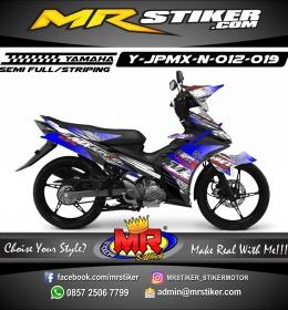 Stiker motor decal Jupiter MX New Gradation Abstak Splat Crash